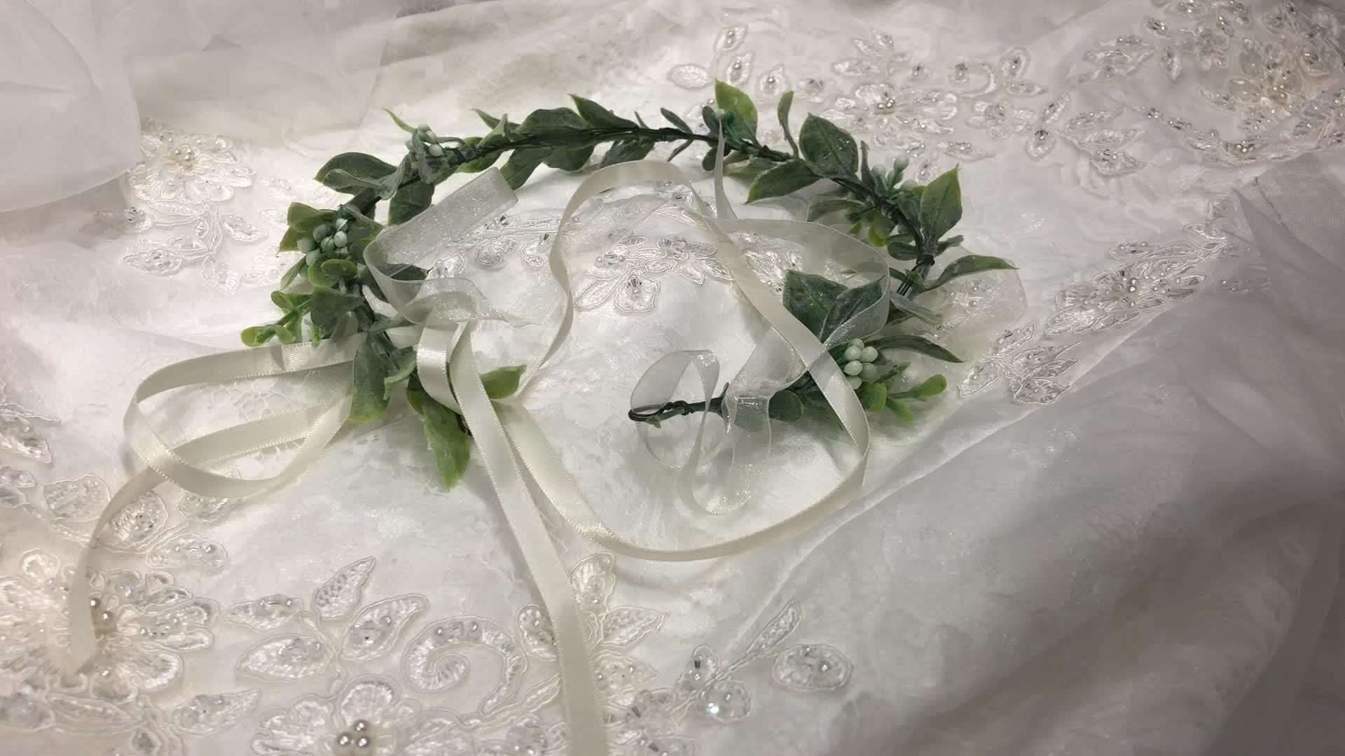 HW0316 शादी दुल्हन पुष्प हेडबैंड महिलाओं फूल बाल सामान लड़कियों फूल समायोज्य बाल बैंड