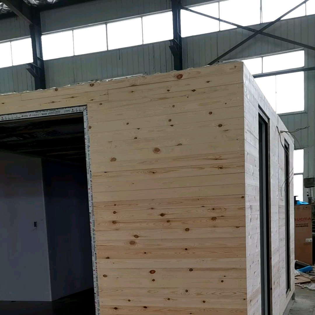 Modular casa prefabricated log house price kit bedroom office low cost modern design expandable wooden house villa home