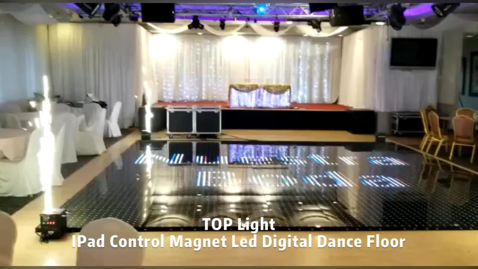 לקנות אלחוטי diy ריקודי דיסקו dj אורות pista דה led דיגיטלי שחור ריקוד כיסוי רצפה פנלים לשכור
