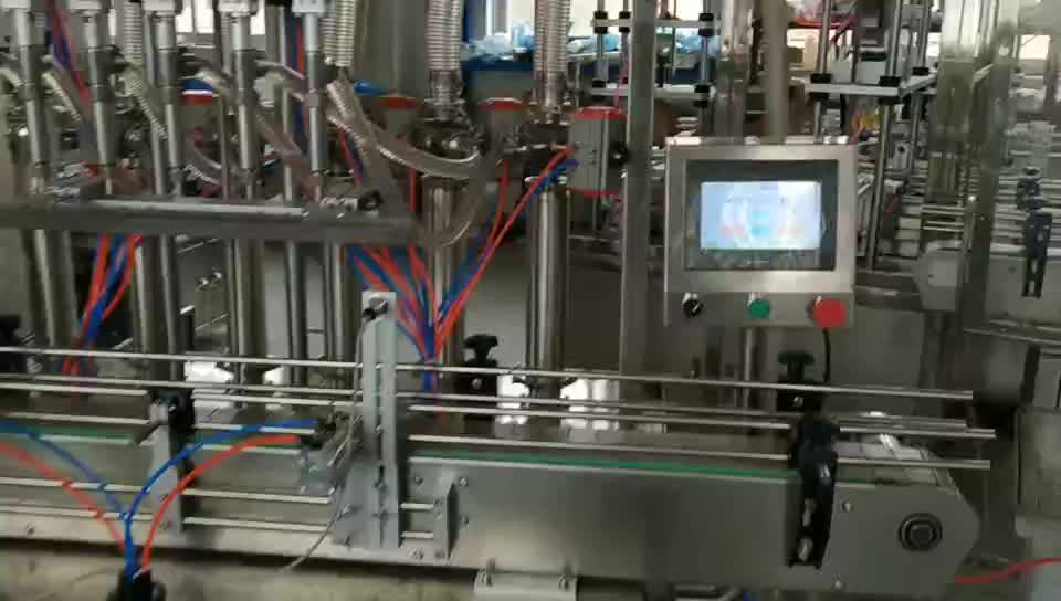 Linear Four Heads Bottled Beverage Precise Leak-free Filling Machine