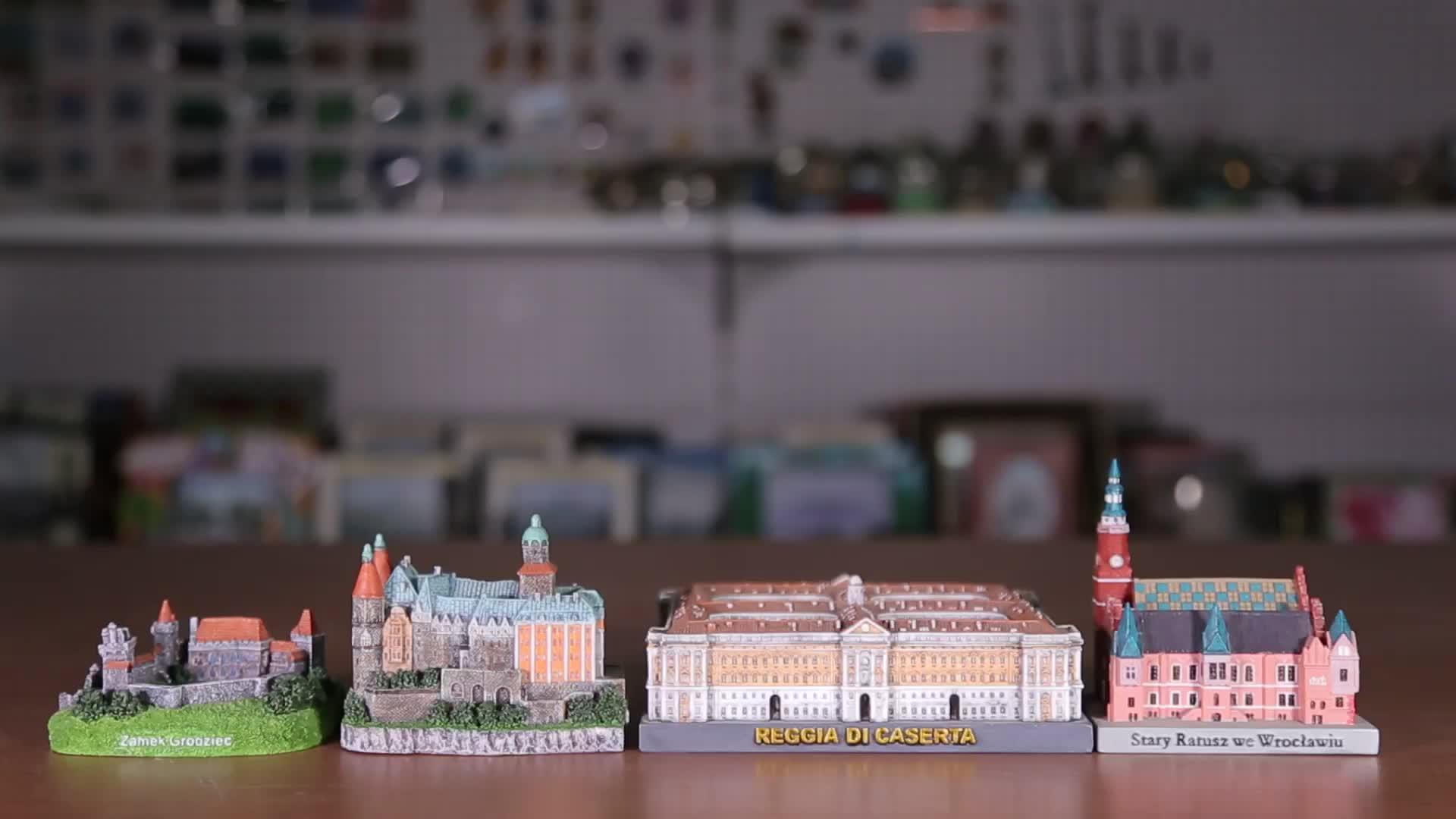 OEM Praga doni souvenir 3d personalizzato costruzione di modelli di case polyresin modelli in miniatura architettonica di edifici famosi