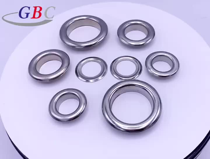 Wholesale 12X6.5mm stainless steel bag eyelet and groment for bags