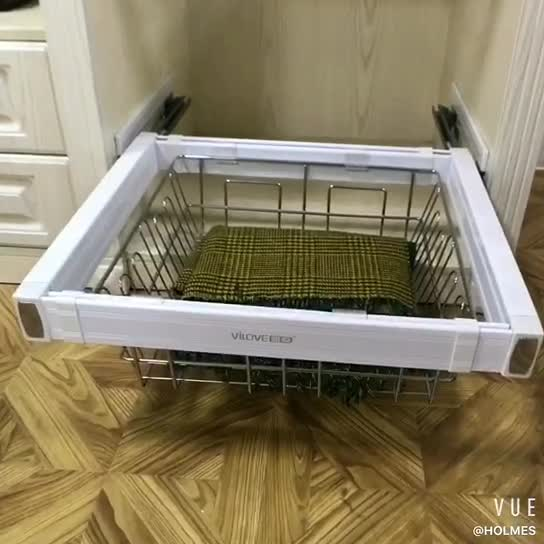 pull out sliding door organizer hanging rack clothes storage drawer wire laundry basket buy. Black Bedroom Furniture Sets. Home Design Ideas