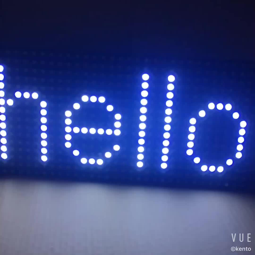 P10 полуоткрытый Smd одиночный белый цвет светодиодный дисплей модуль