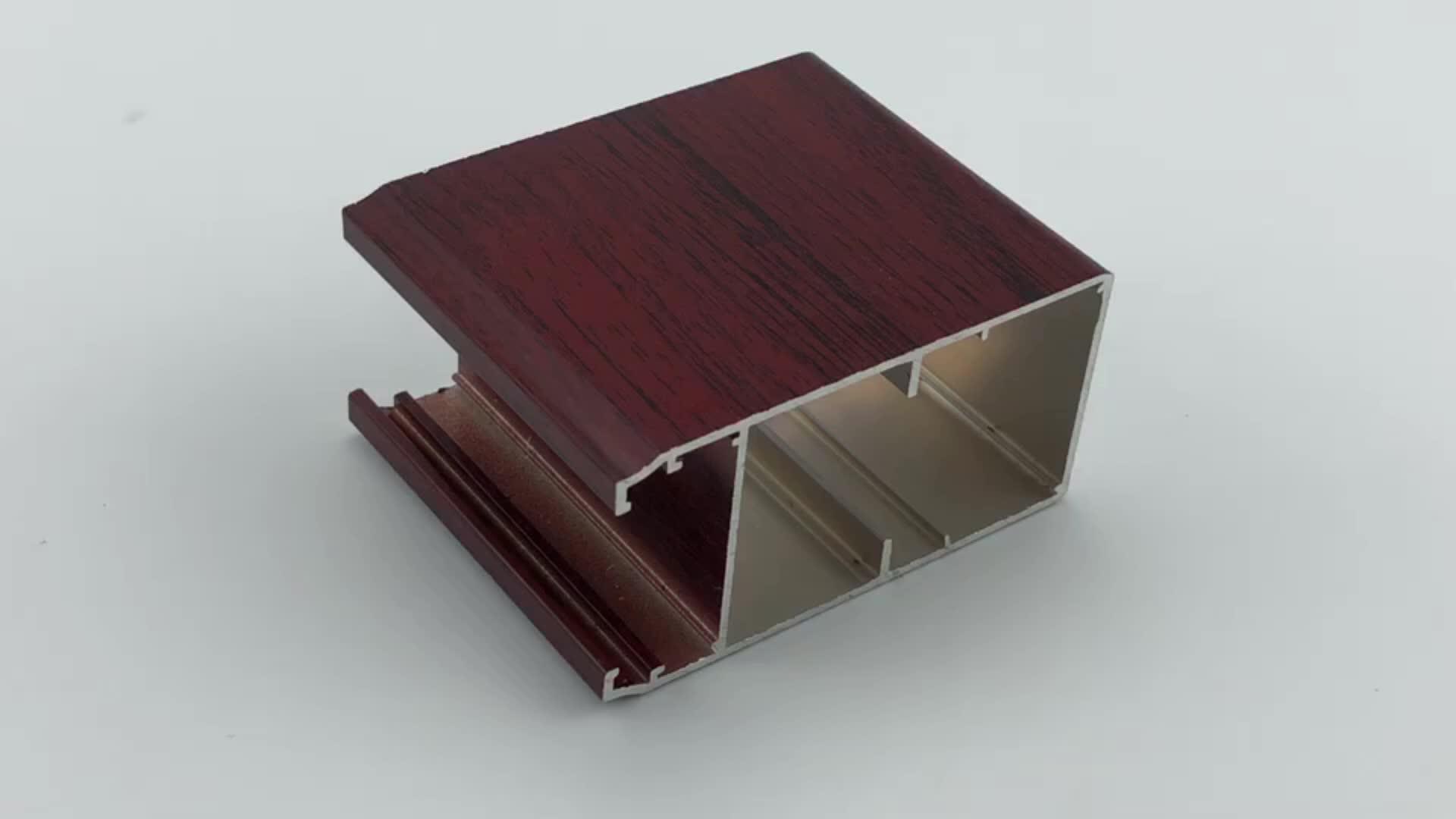 Wood grain aluminium profile in dubai supplier,wood finish aluminium price per kilo,foshan nanhai aluminium 6061 t6 tube
