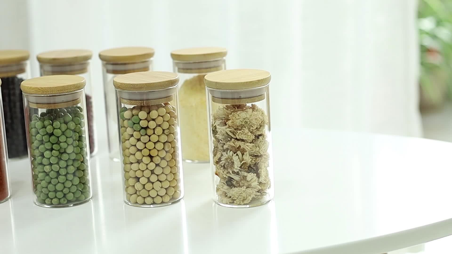 חג פופולרי 520 ml זכוכית צנצנת נר, עגול זכוכית מזון צנצנת עם נירוסטה כובע
