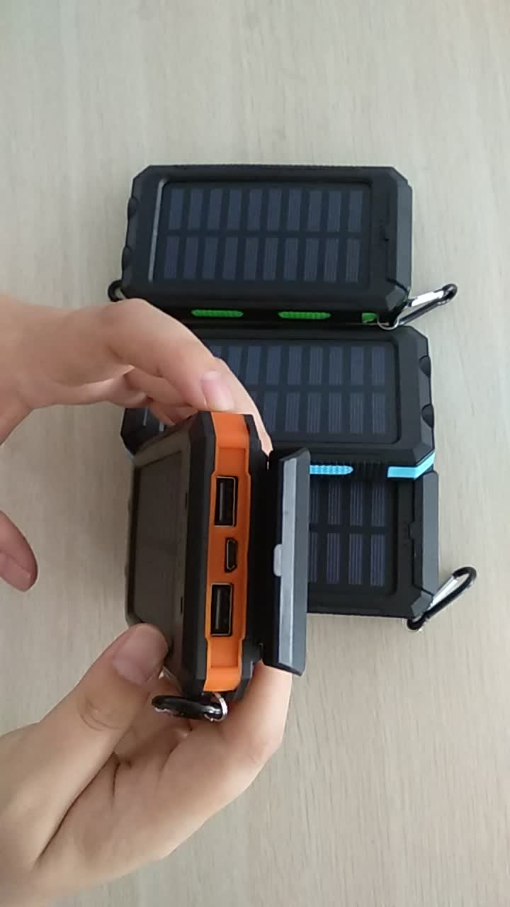 Best selling products 30000mah solar power bank with led light