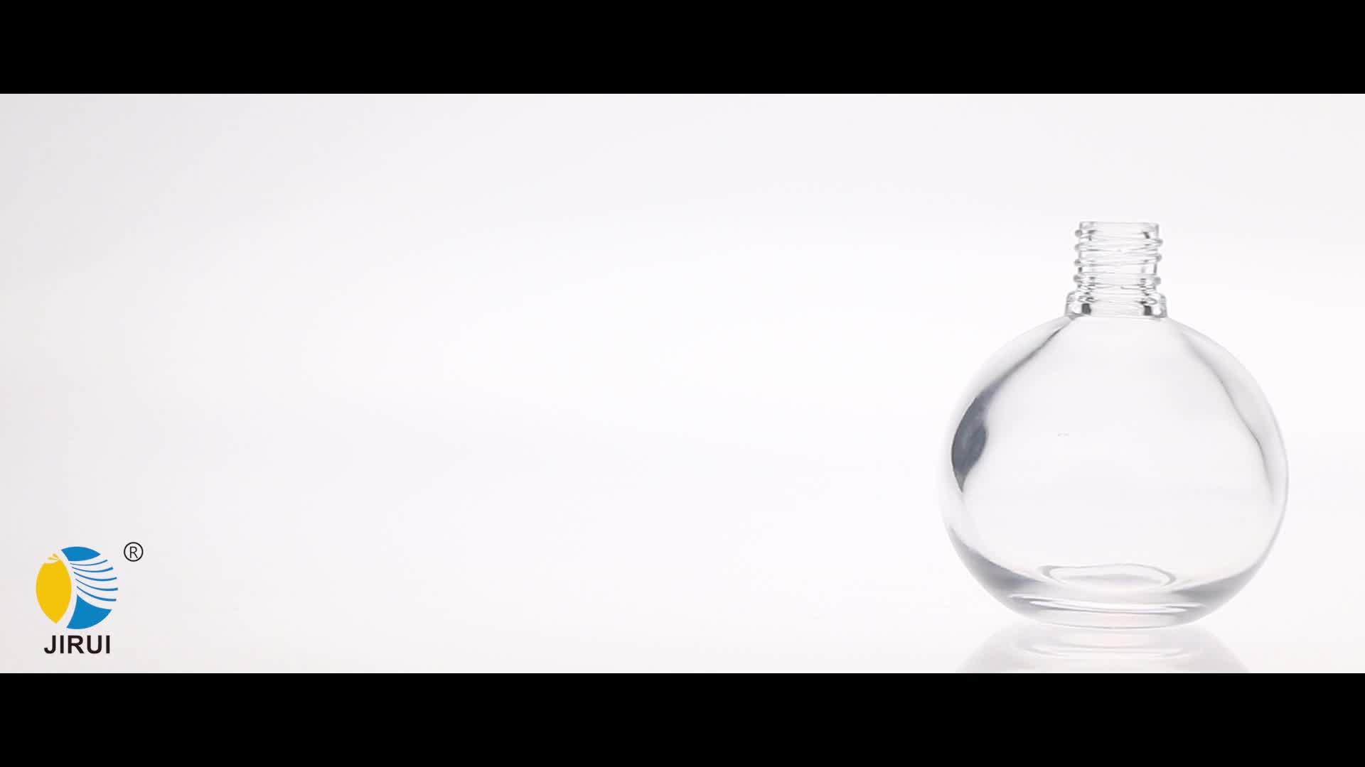 Bola redonda em forma de garrafa de perfume de vidro 50 ml Garrafa de cristal recarregável em spray de frasco de perfume com bola de ar