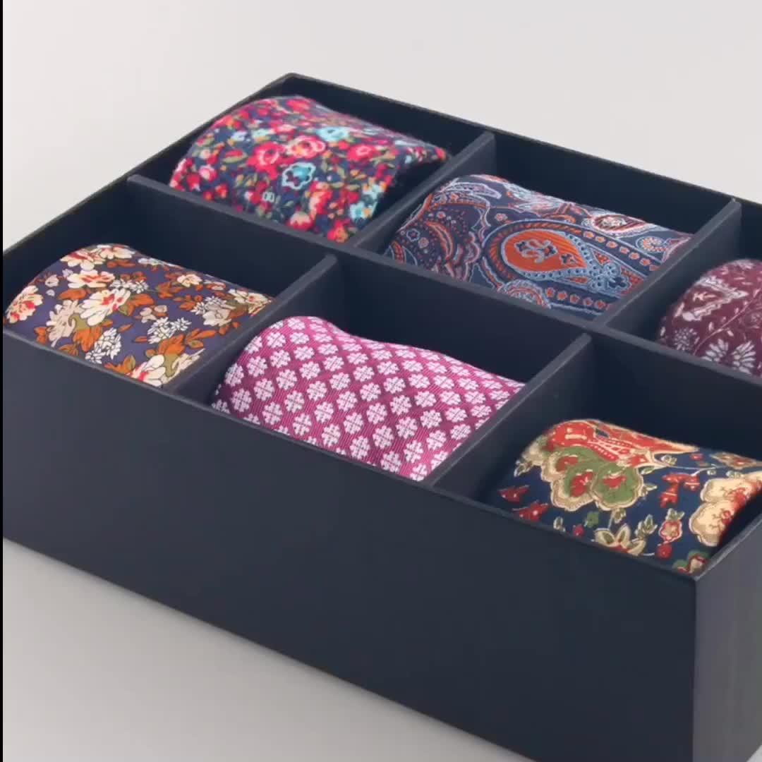 Benutzerdefinierte Blume Paisley Fashion Silk Krawatten Männer