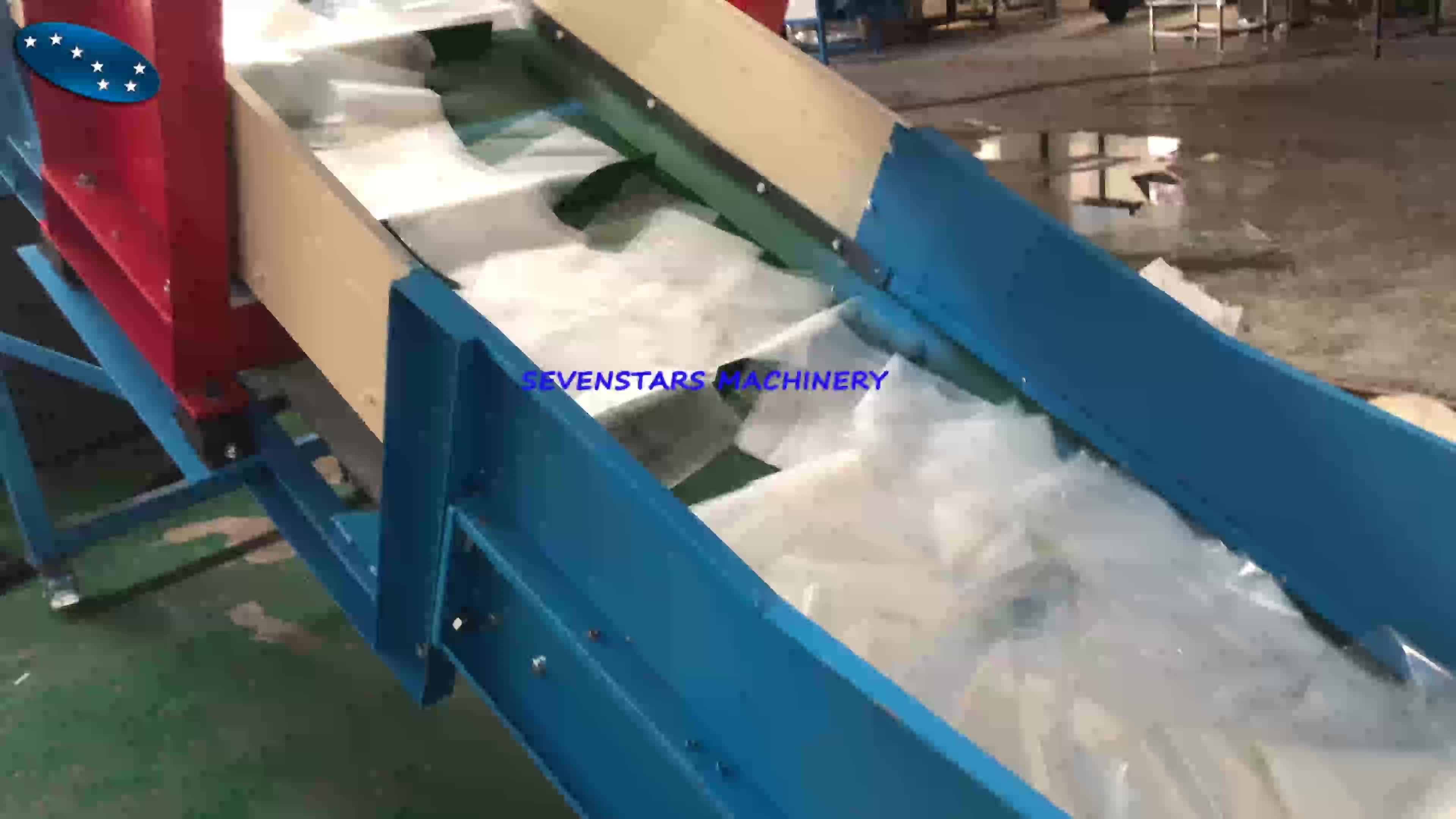 Recycled film pelletizing line PP/PE plastic granules/pellets raw material making machine
