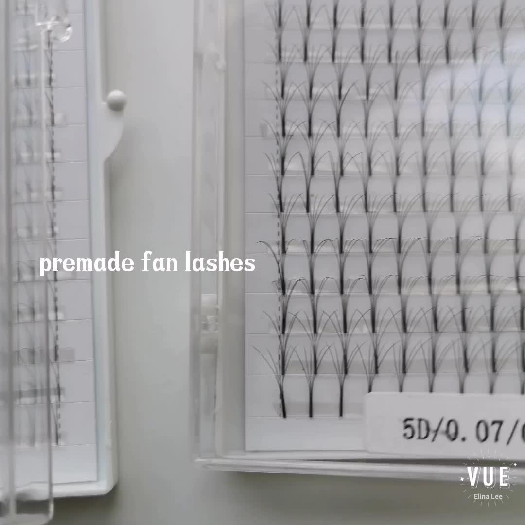 Russian Volume Lashes Individual Eyelash Extensions Kit 8-15mm C D premade eyelash extension fan