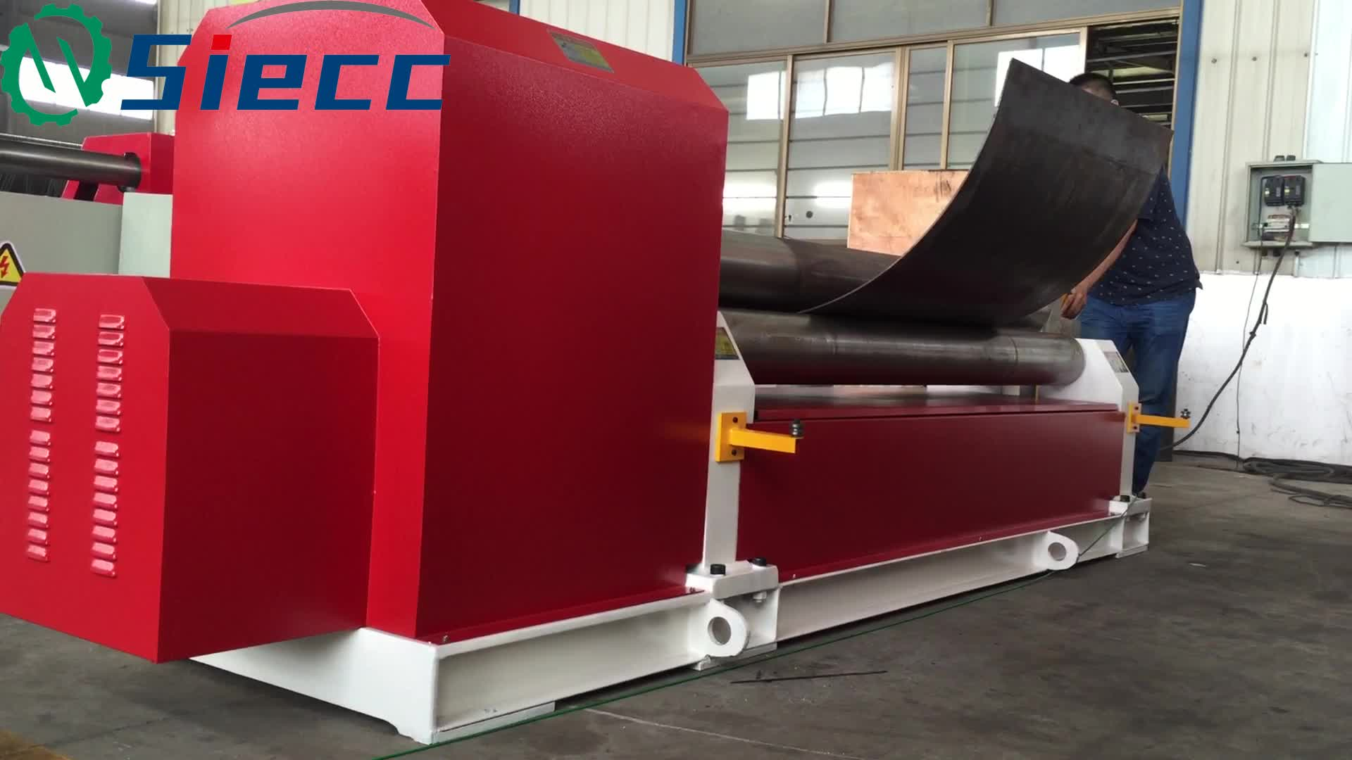 3 roller aluminium small iron metal sheet plate manual roll bending machine, cold used steel rolling machine for sale