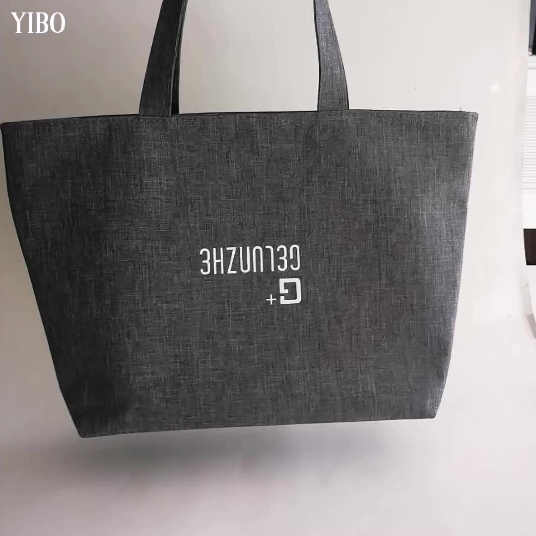 染め Pvc コーティング食料品防水カジュアルショルダーバッグ 300D オックスフォードトートバッグ生地の女性のバッグ女性のためのと大学