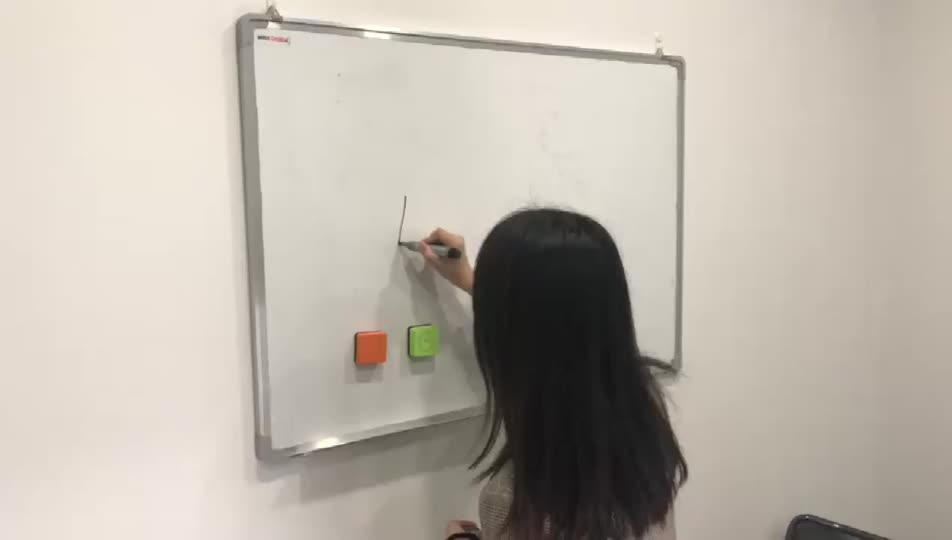 Factory supply cheap school multi-color custom magnetic whiteboard eraser
