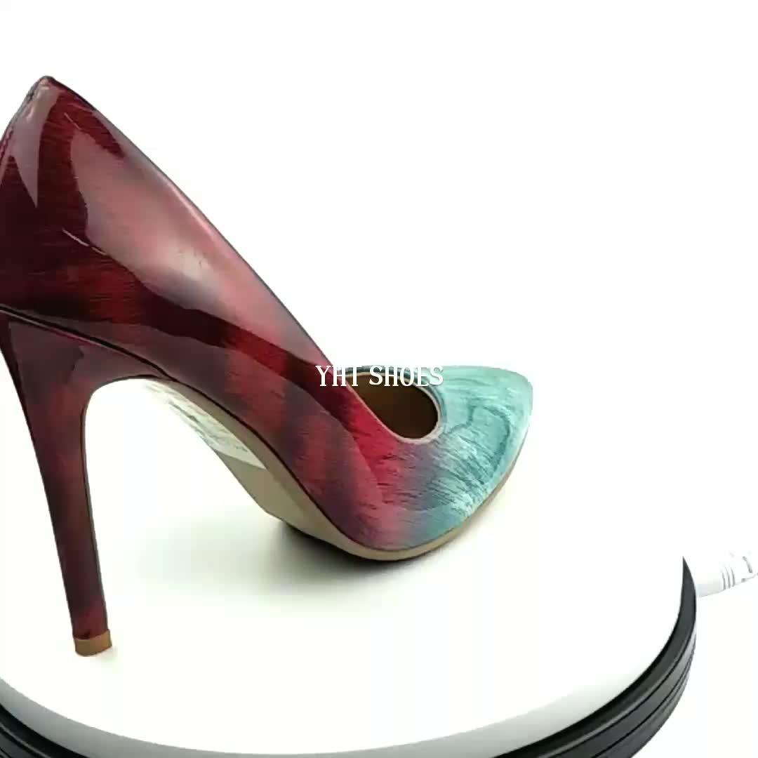 Hot Sale Ladies 2018 Gradient Fancy High Heel Dress Shoes ...