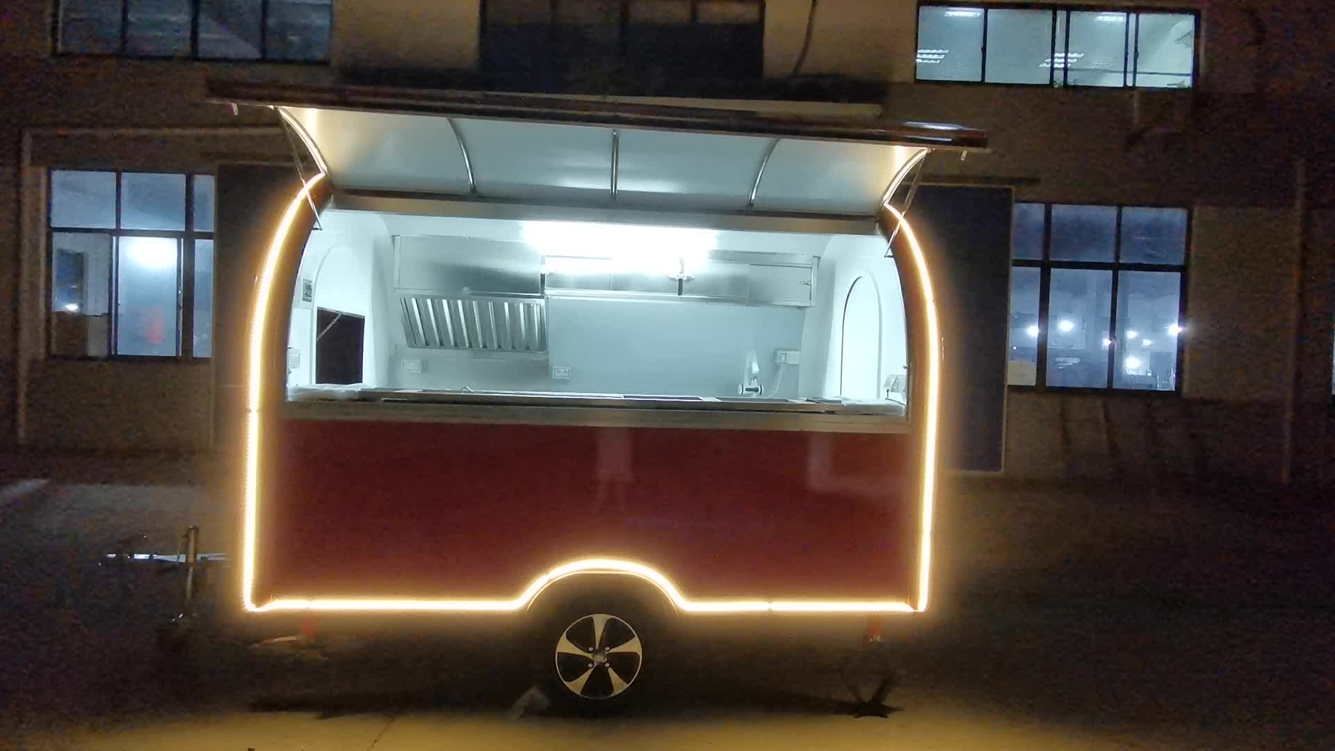 Street Fast Food Or Fruits Mobile Hotdog Food Cart From China Major Manufacturer for ice cream