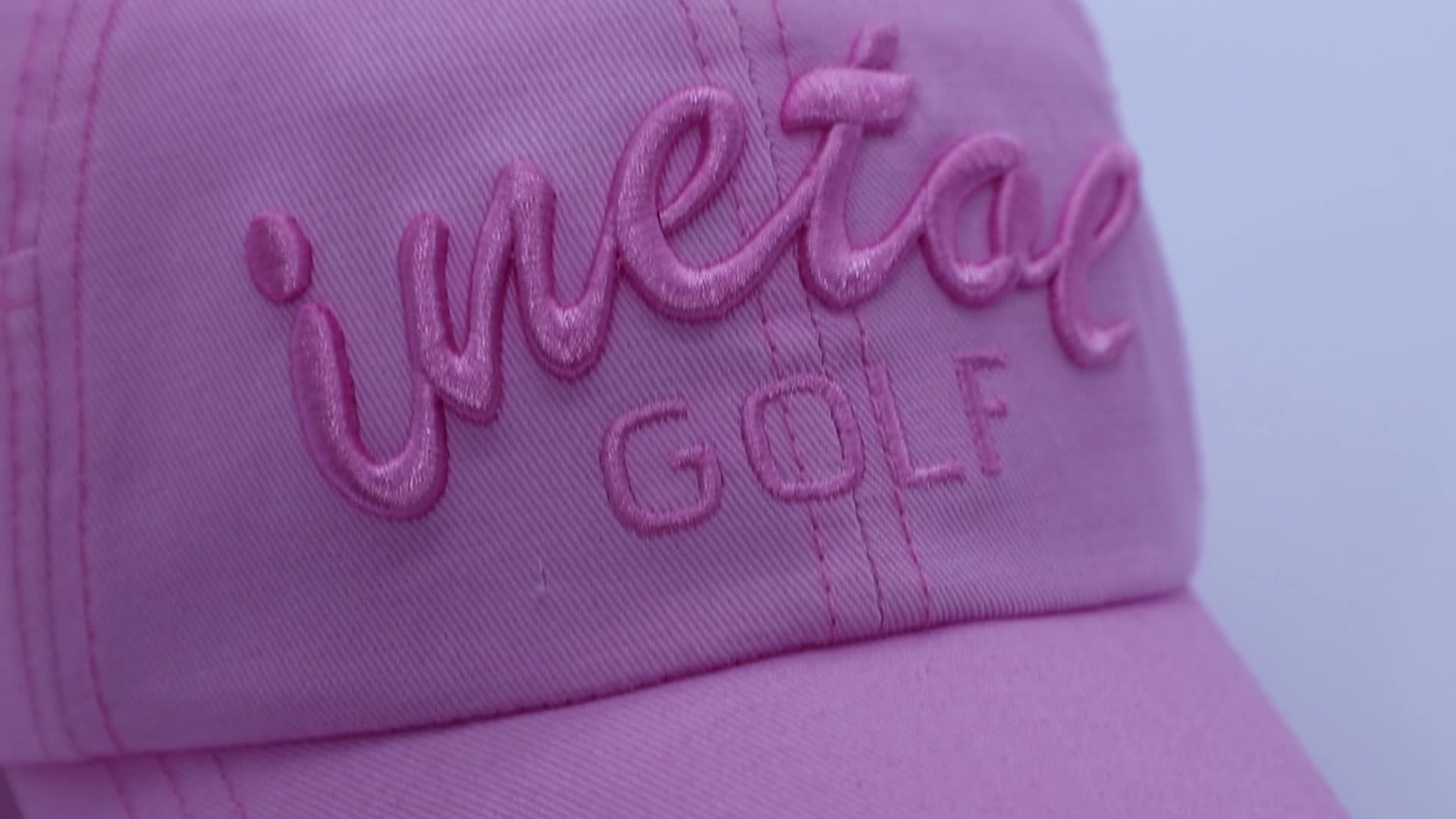 Custom 3D embroidery logo mens fashion sports hats golf caps