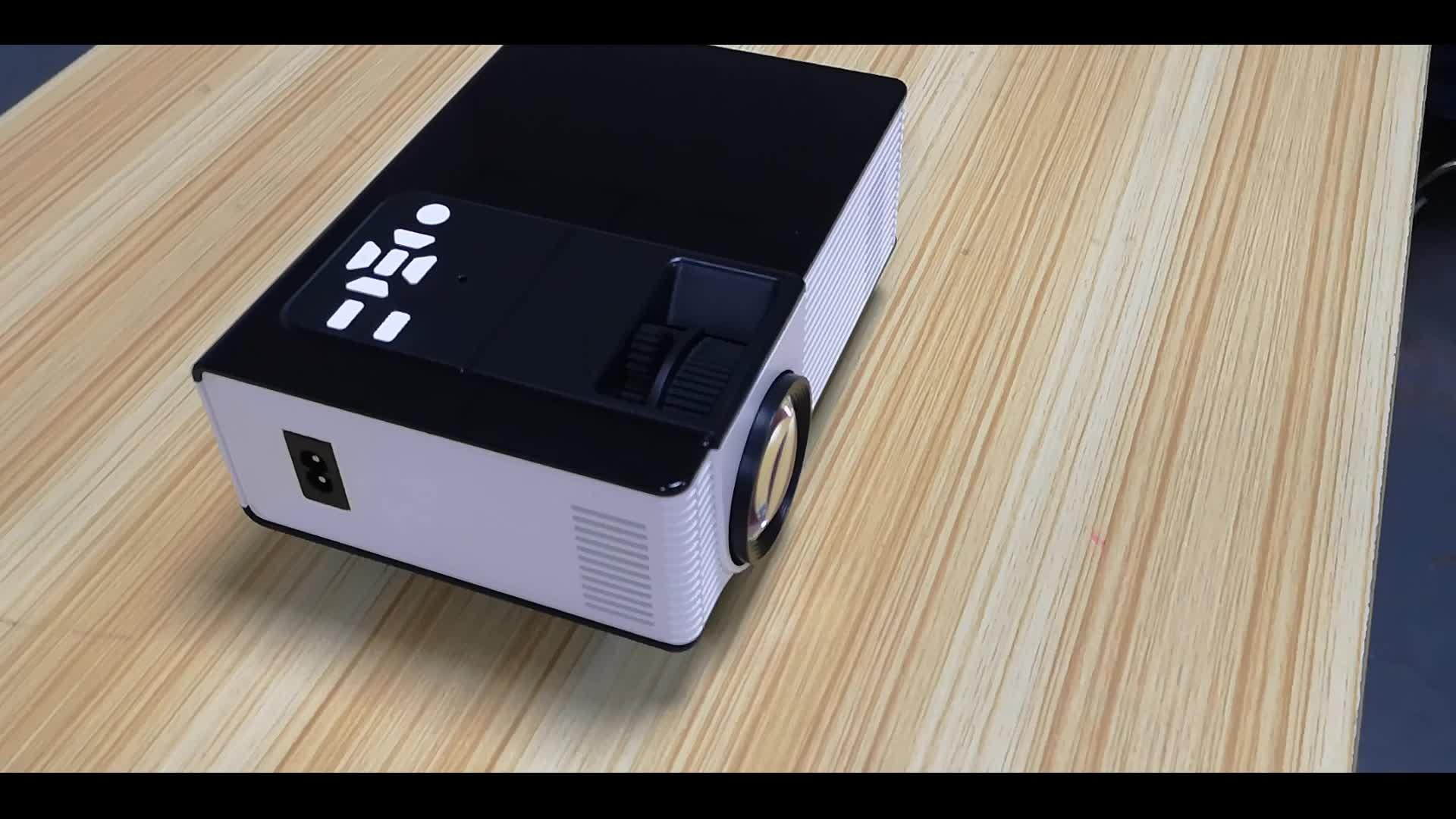 높은 루멘 지원 1080p HDMI USB VGA 1500 루멘 1280x800 네이티브 해상도 미니 프로젝터 LED LCD 비디오 프로젝터