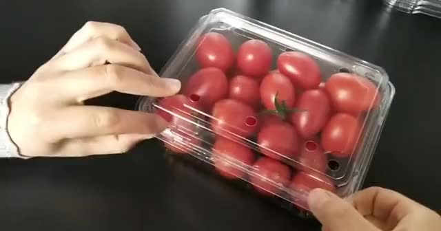 Eco-friendly clear plastic blister packaging clamshell box for fruits