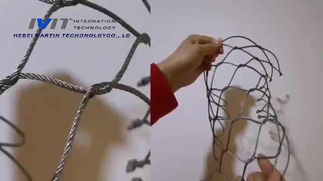 גן חיות חוט חבל רשת 316 316L נירוסטה גמיש התיל בנוטינג עבור ציפור הכלוב