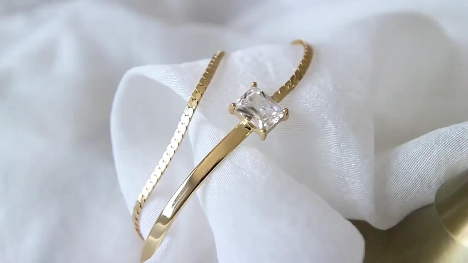 18 k ouro mão fantasia meninas cadeia de acessórios pulseiras