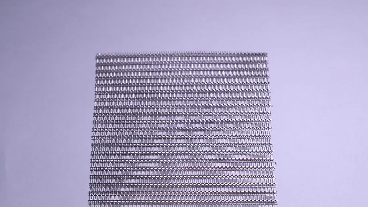 XY-R-03 Glass Laminated Woven Metal Mesh for Art Design