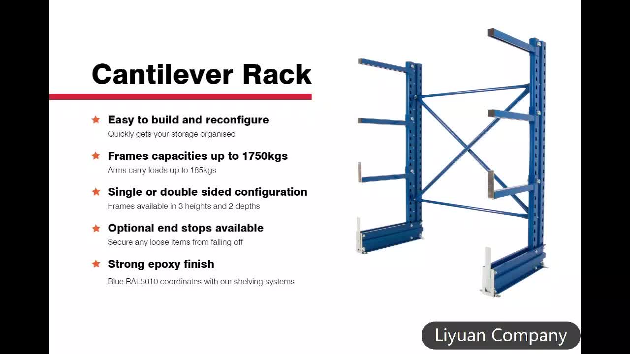heavy duty high capacity warehouse cantilever shelving handling storage rack