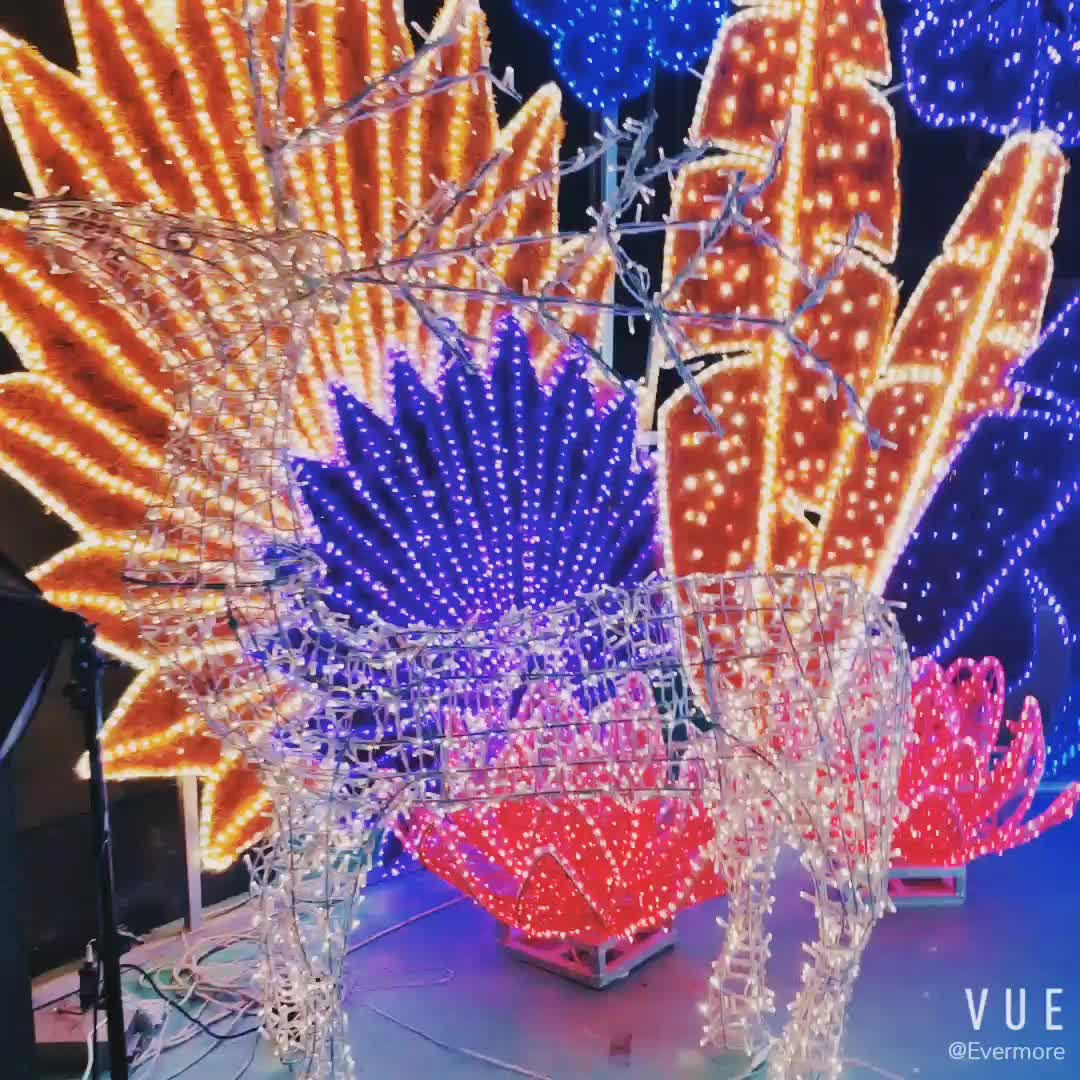 Luz led con motivos de ciervos para fiestas al aire libre personalizada para Navidad