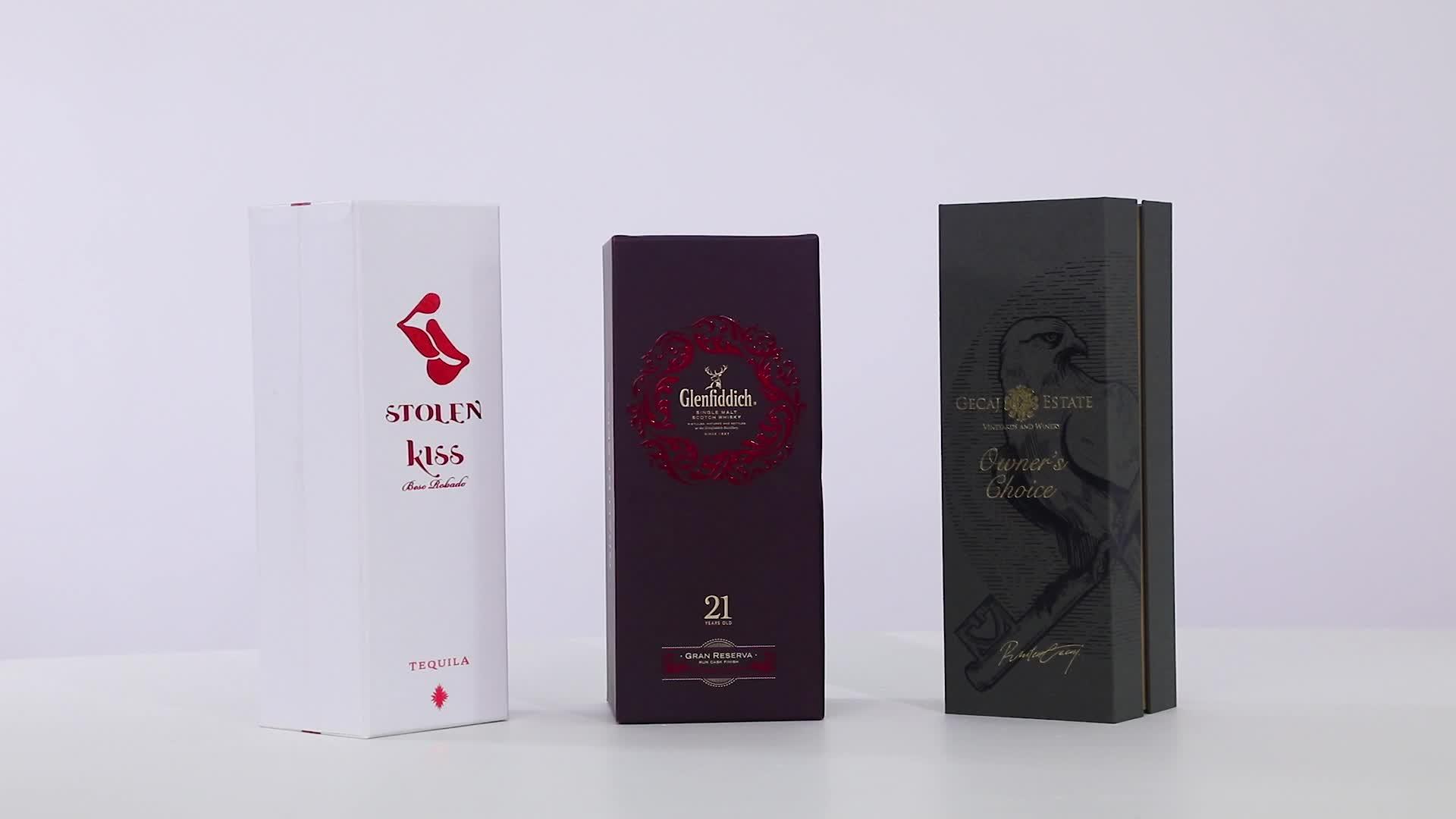 Geschenkverpackung einzelne Flasche billigen Karton Papier Rotwein Box