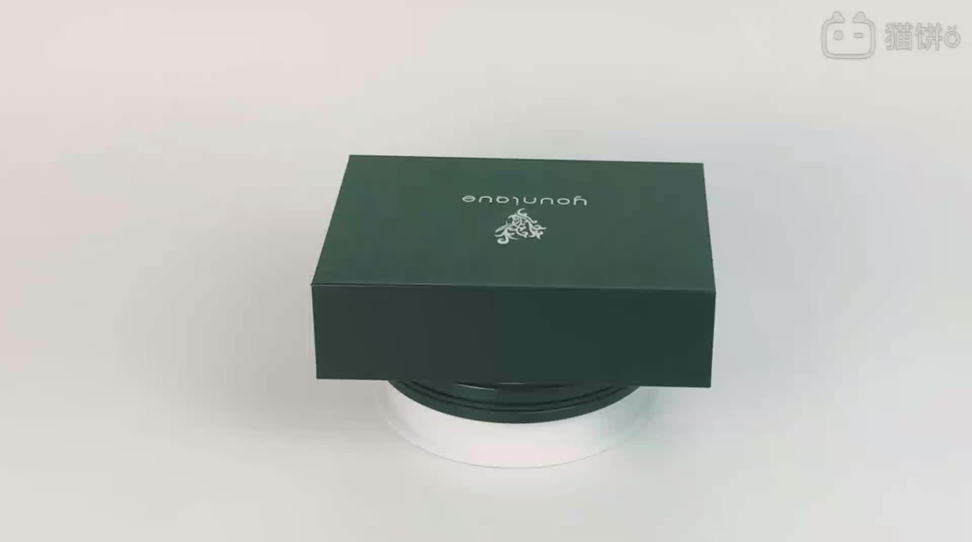 Boîtes en carton de luxe personnalisées concevez votre logo emballage boîte-cadeau pliante magnétique noire