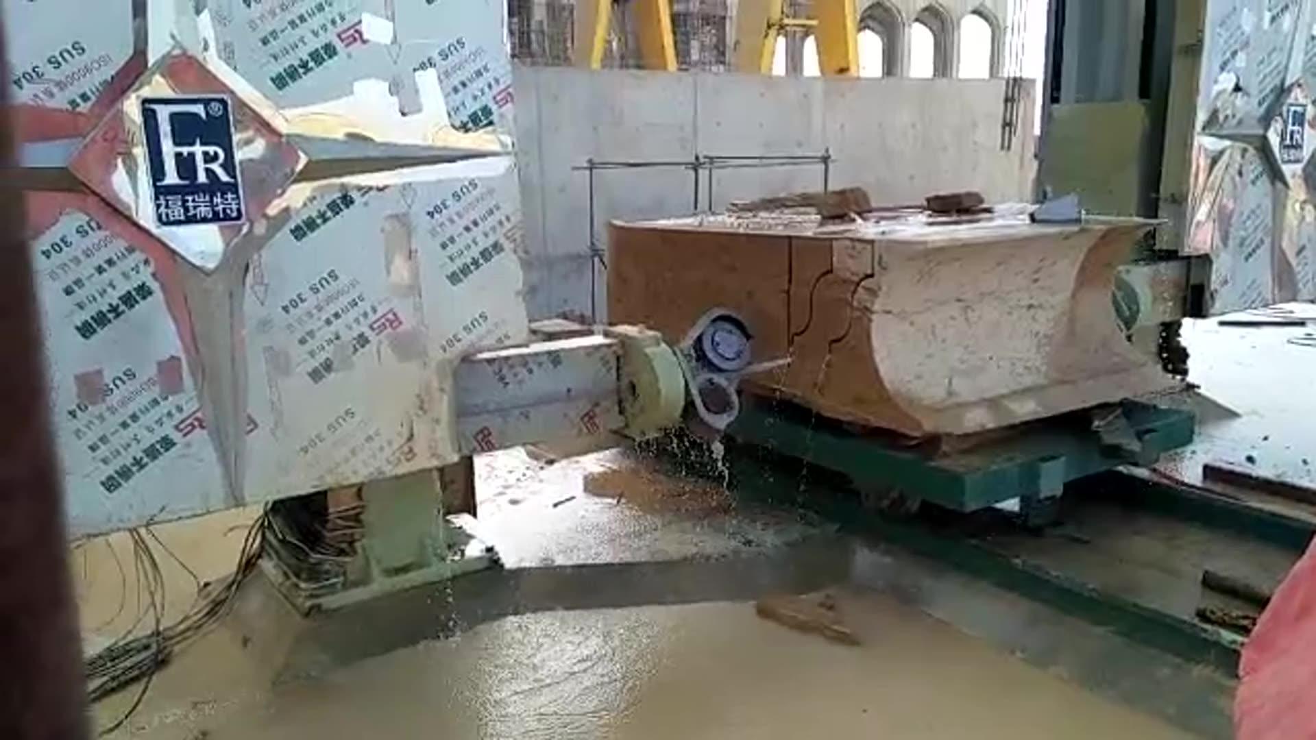 Stein maschinen FRT-2500 CNC diamant draht sah stein cut gestaltung mono draht sah stein schneiden maschine