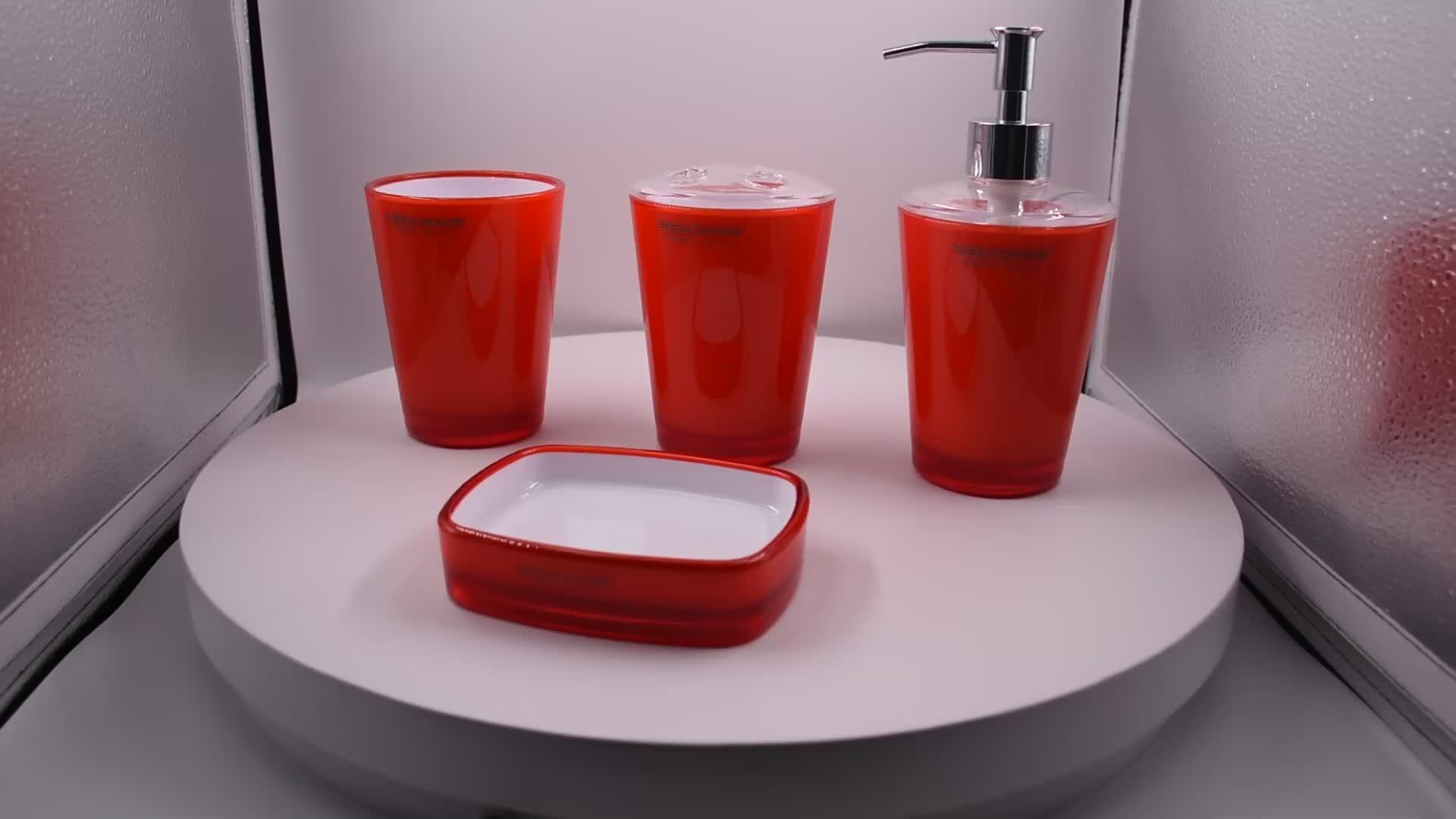 Accessori da bagno Insieme in grigio, lozione dispenser set