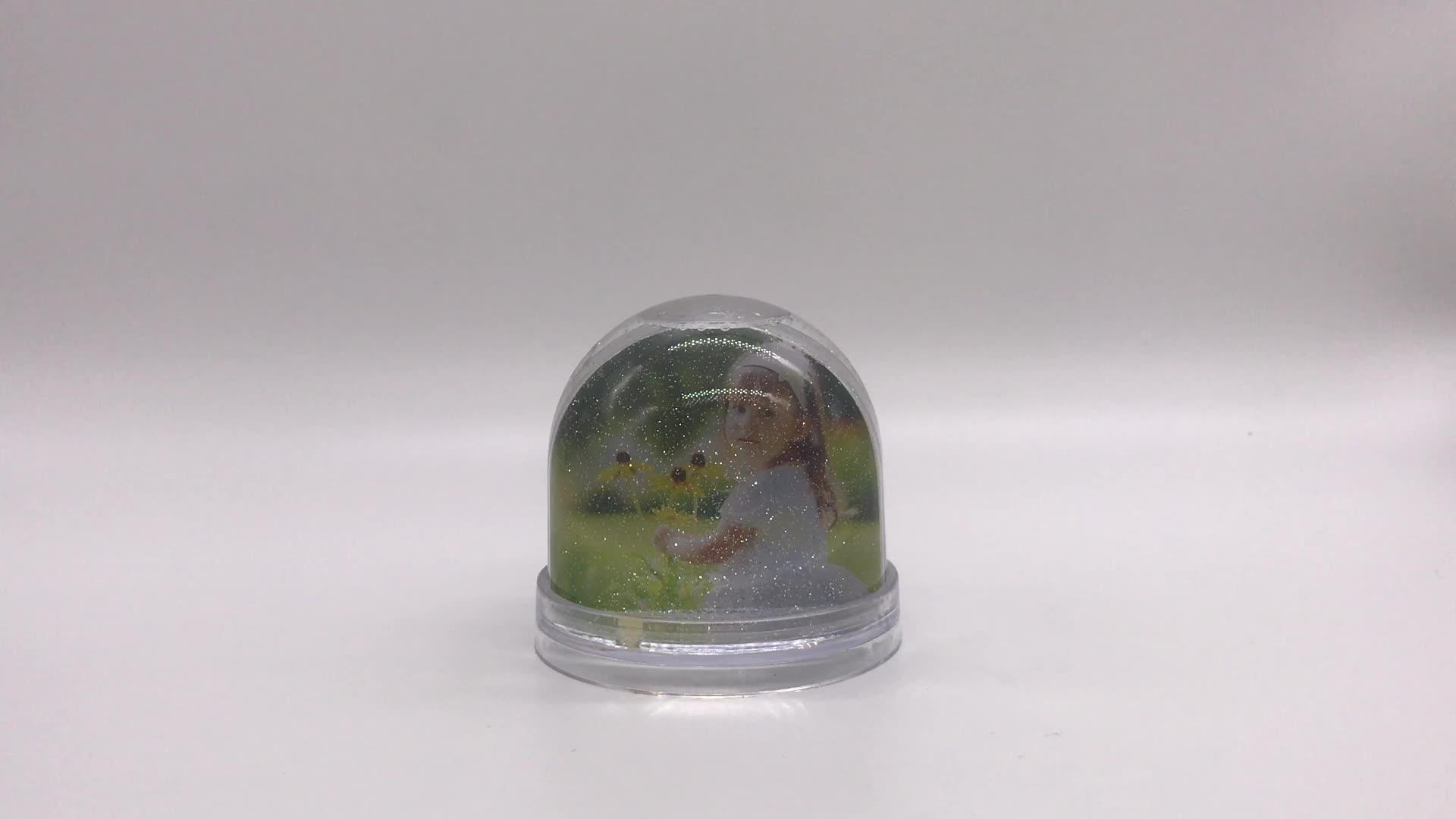 Moeder Dag Gift Plastic Ambachten Gift Foto Sneeuwbol Fotolijst Water Globe