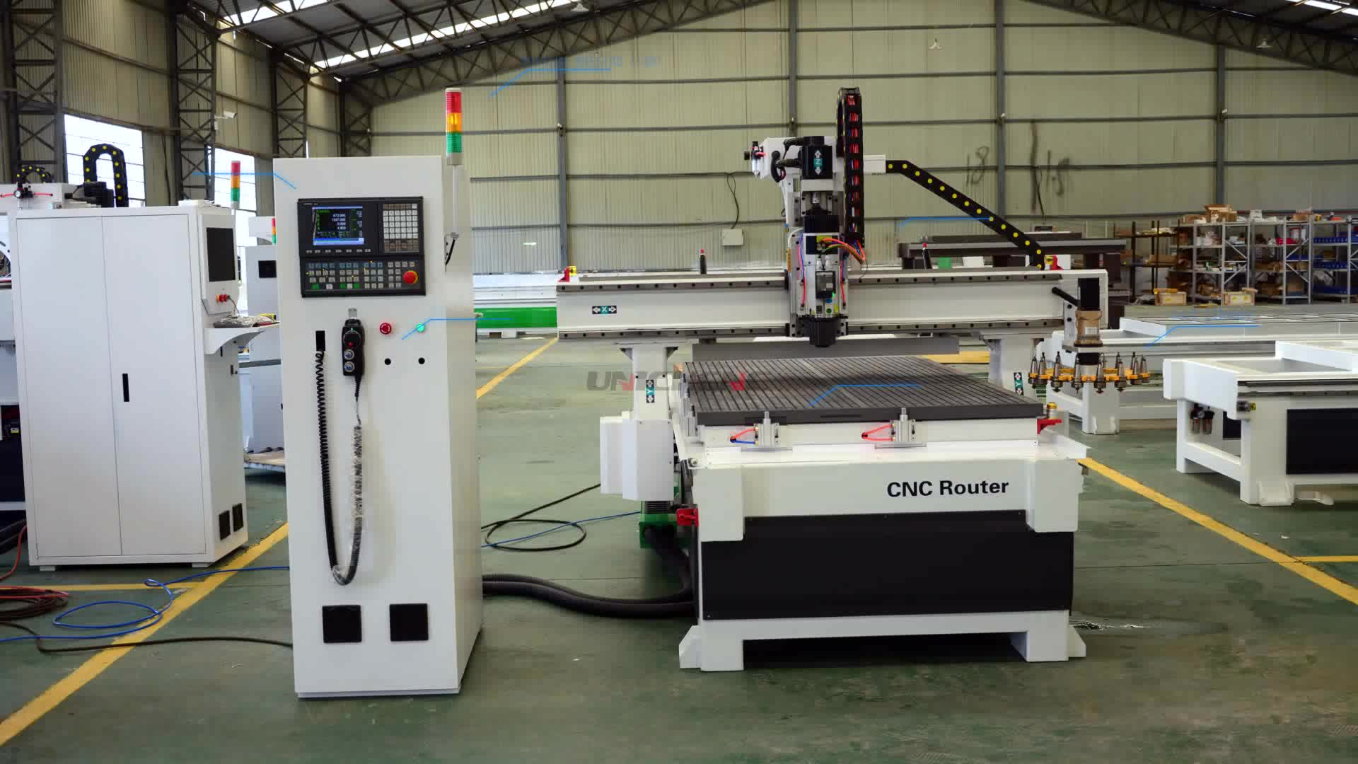 Auto tool changer woodworking cnc router machine 1325