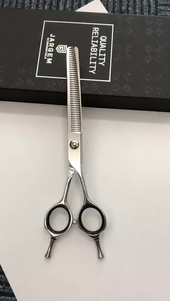 Dog grooming scissors curved thinning 6.5 inch pet grooming scissors 45 teeth pet scissor