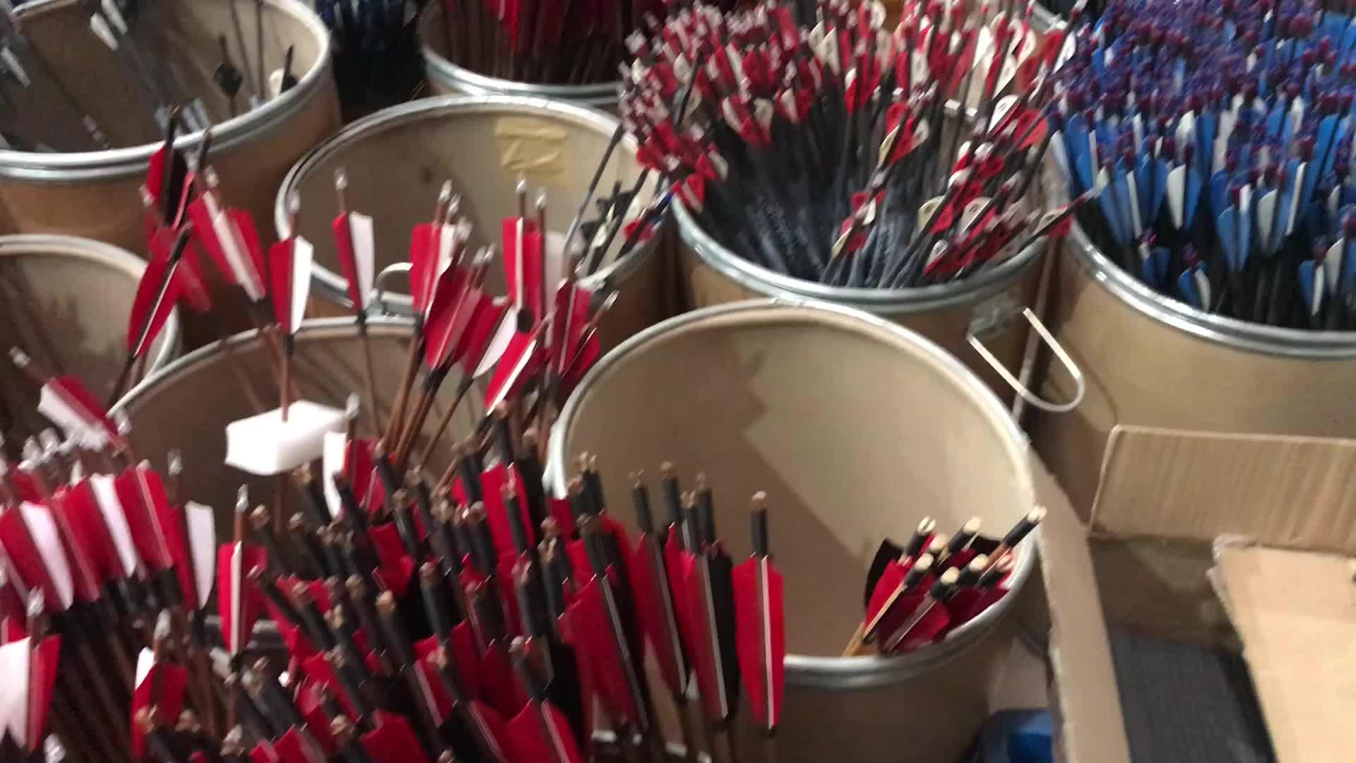Spg Recurve Compound Bogen Carbon Glasvezel Hout Bamboe Boogschieten Pijlen Voor De Jacht Schieten