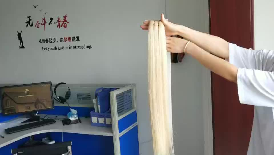 Grade 9a indian remy hair 613 straight flat weft remy hair extensions