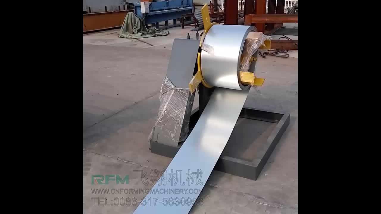 FX aço inoxidável calha de chuva tubo que faz o rolo dá forma à máquina