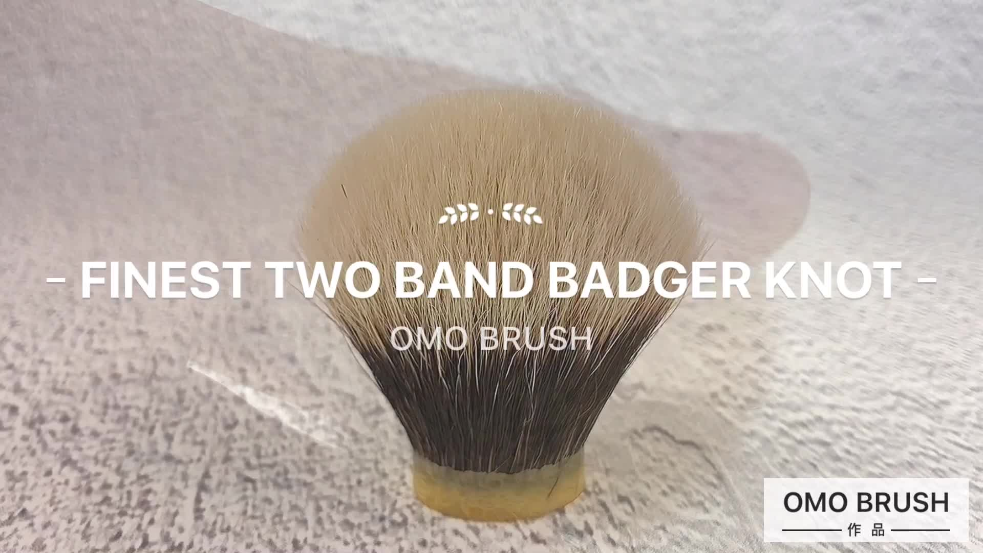 New design two colors finest two band shaving brush knot
