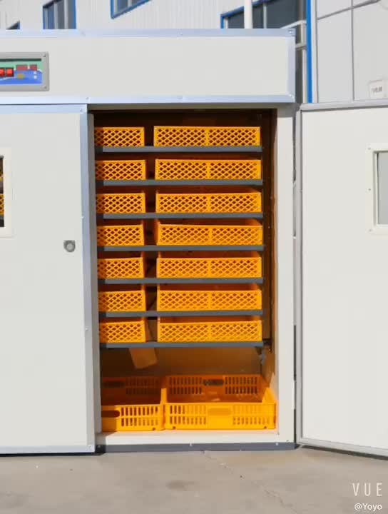 High quality, fully automatic 352-capacity egg incubator