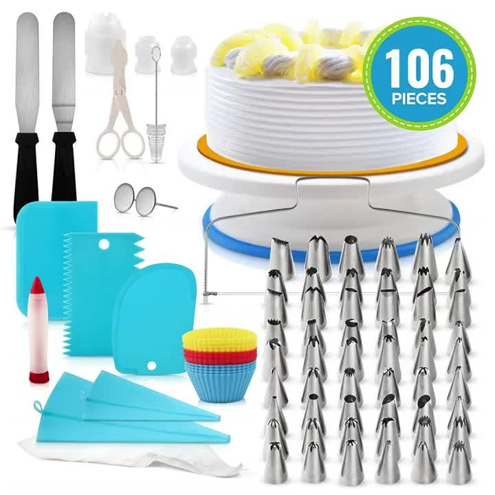 hot sales Stainless steel cake pastry nozzles piping icing tips sets / cake supplies decorating tips tool