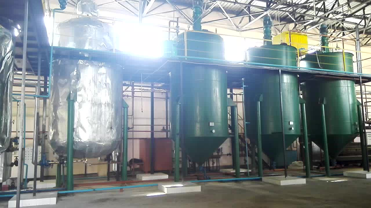 Palm oil refinery equipment and installation