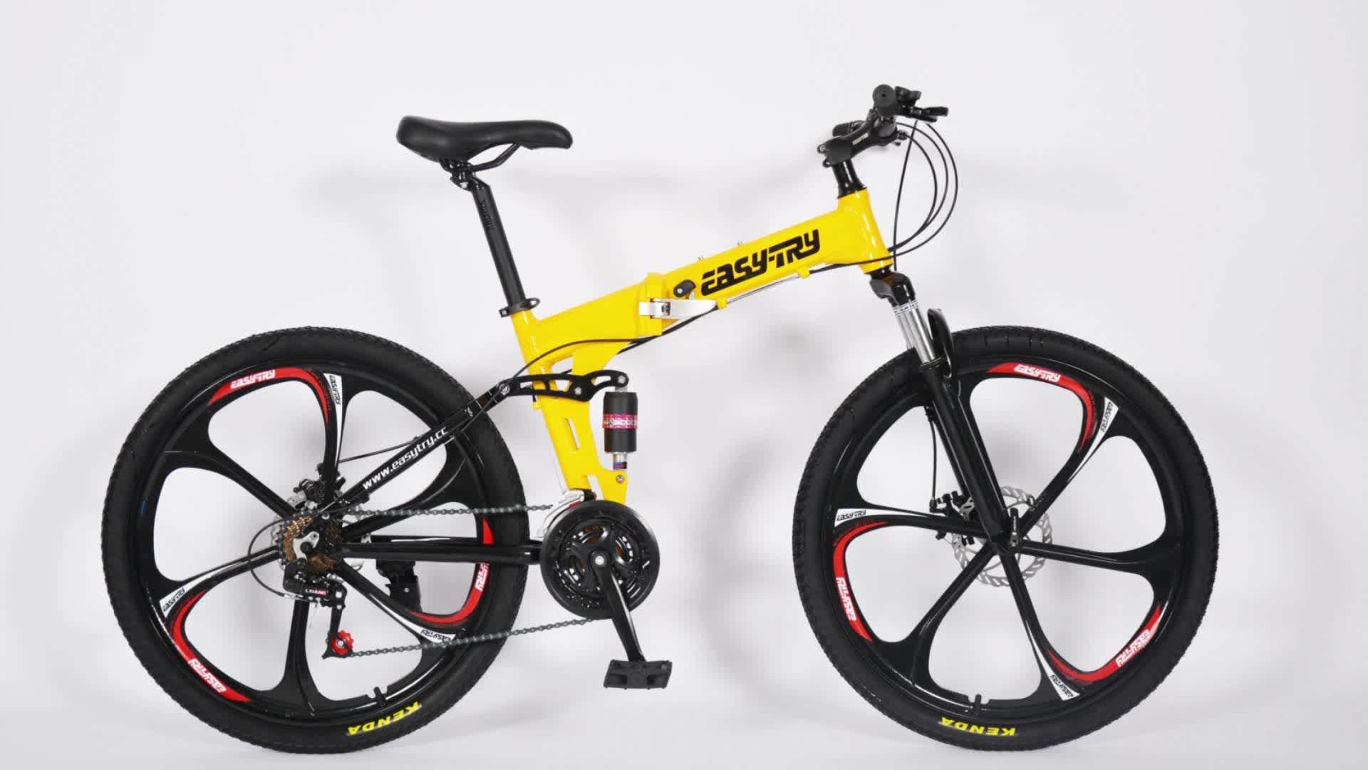 Các nhà sản xuất 26 inch 21 tốc độ CHẤT LƯỢNG CAO Gấp xe đạp leo núi xe đạp