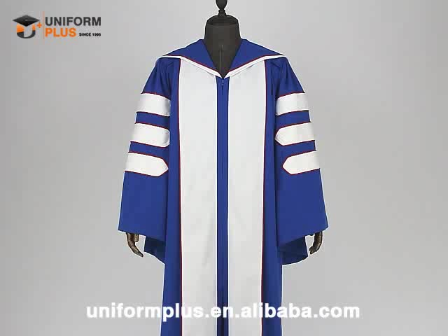 Super quality customized doctoral academic graduation gowns and robes