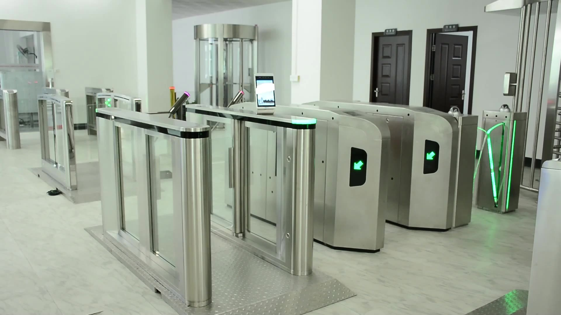 New design smart single or bi-directional optional flap Gate Barrier Turnstile for Access Control System  station airport