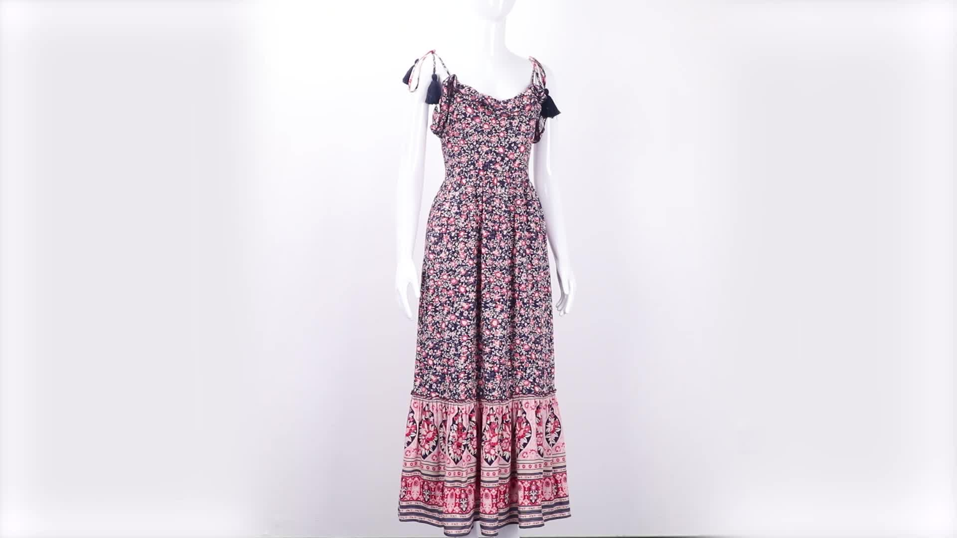 Anyaman Bohemian Hippie Chic Maxi Dress