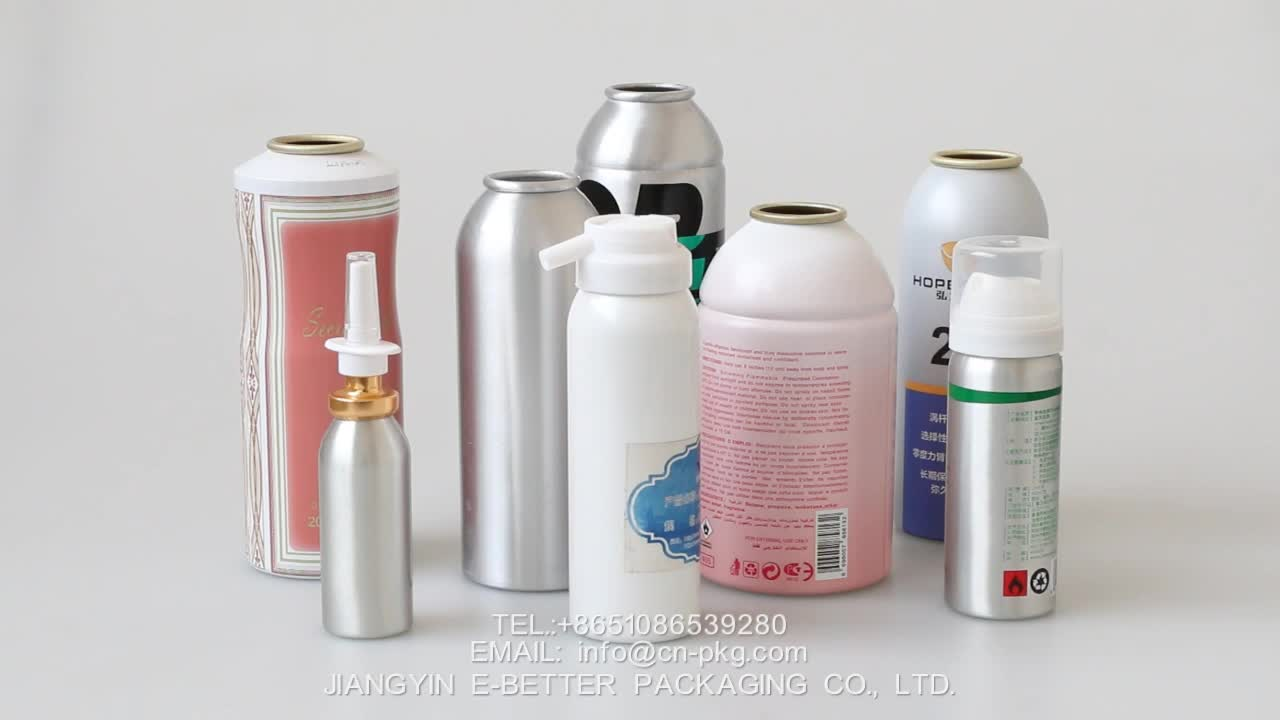 250ml empty aluminum aerosol can with over cap