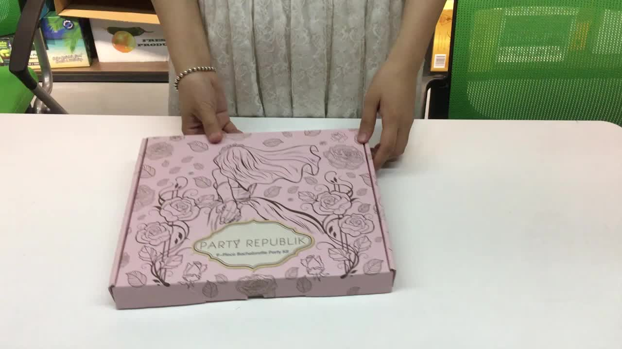 Environmental recyclely customized logo pizza packaging box