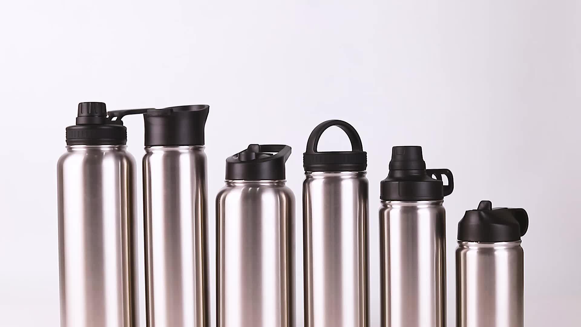 350ml 550ml 650ml 750ml 950ml 1200ml bpa libero di bocca piccola in acciaio inox 18/8 boccetta bottiglia di acqua potabile con tappo a vite