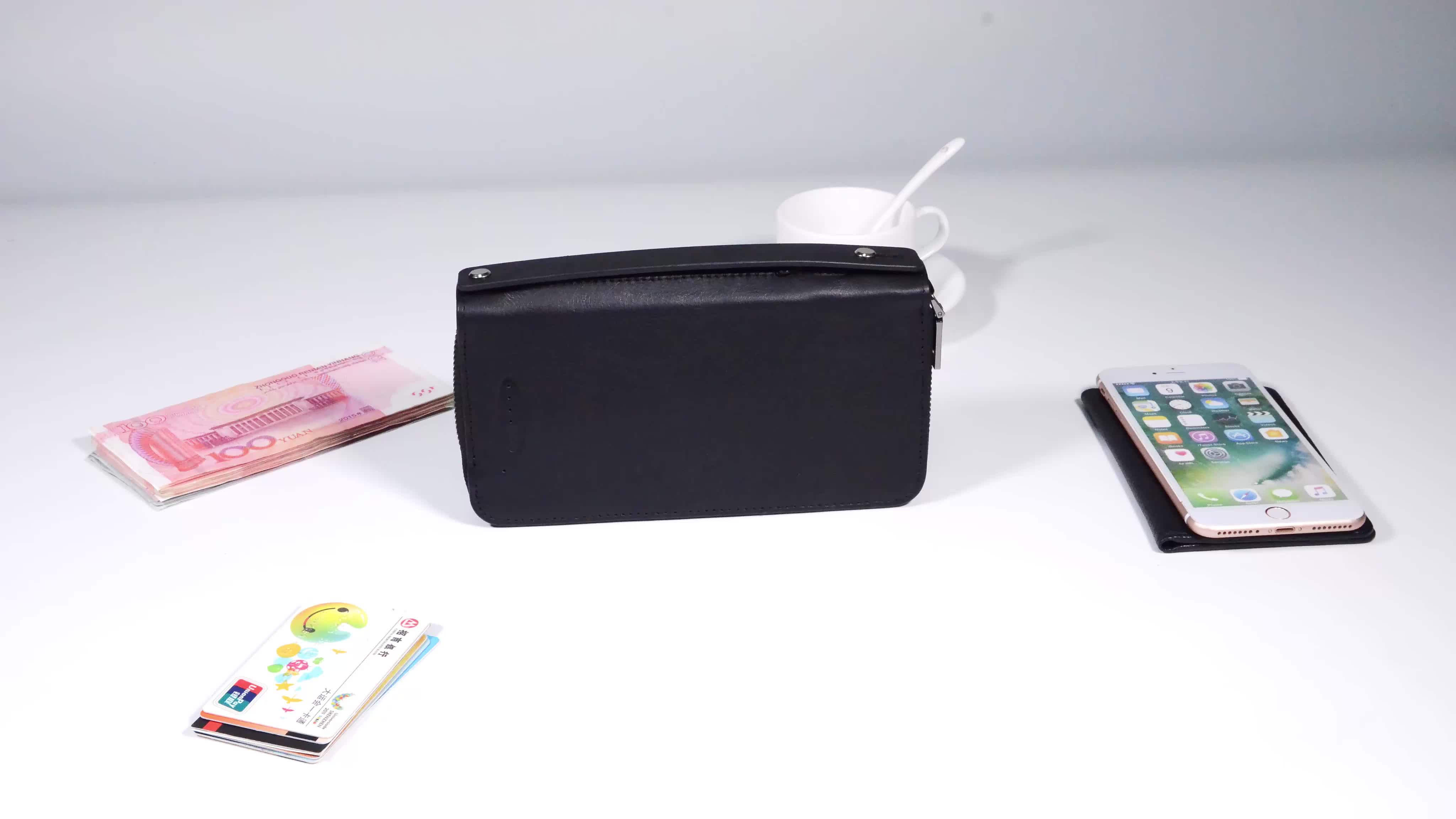 2019 New Arrival 6000mah Unisex Wireless Phone Charging Battery Wallet